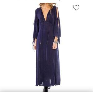 Olive Maxi dress size L( Mustard color)